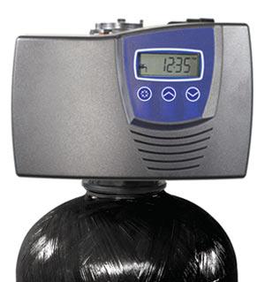 digital water softener head