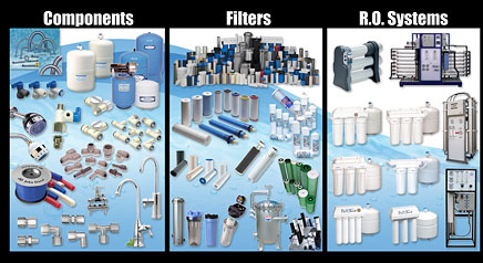 water components filters ro systems