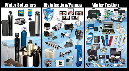 water softeners disinfenction pumps water testing